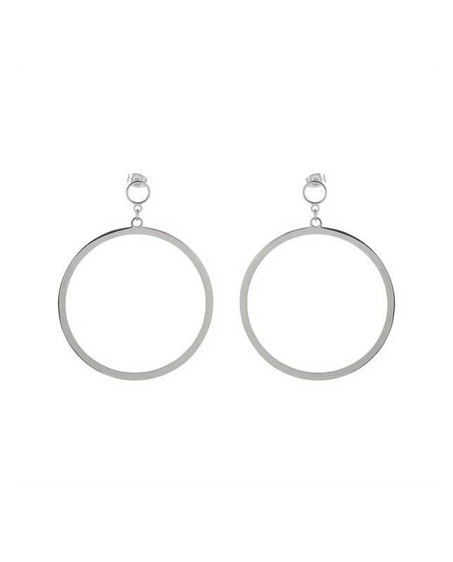 Boucles d'oreilles acier inox argenté Créoles