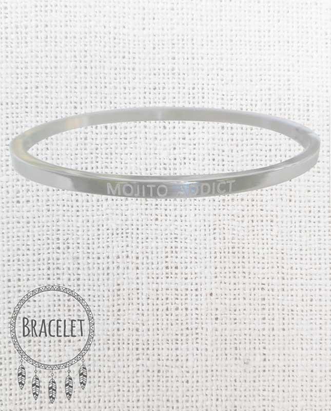 Bracelet acier inoxydable argenté Mojito Addict