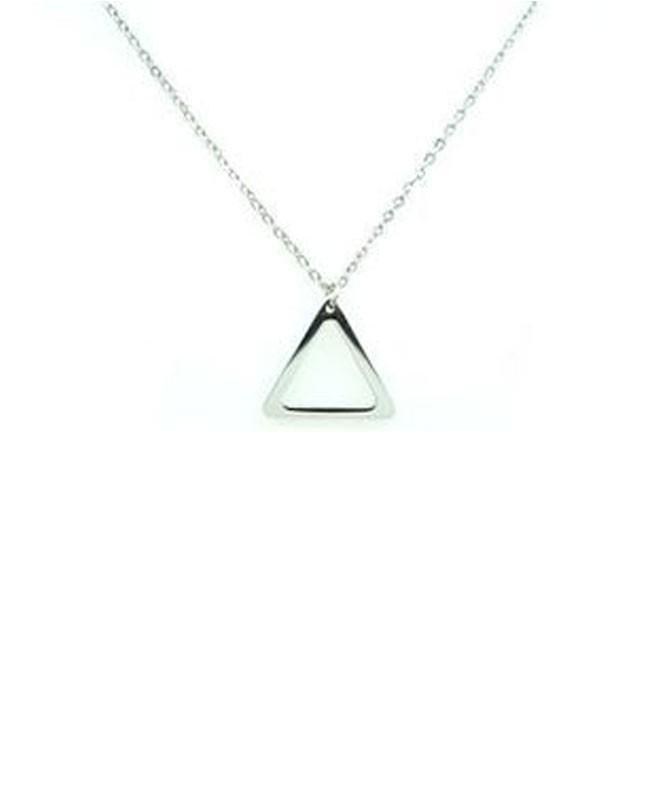 Collier acier inoxydable argenté Triangle