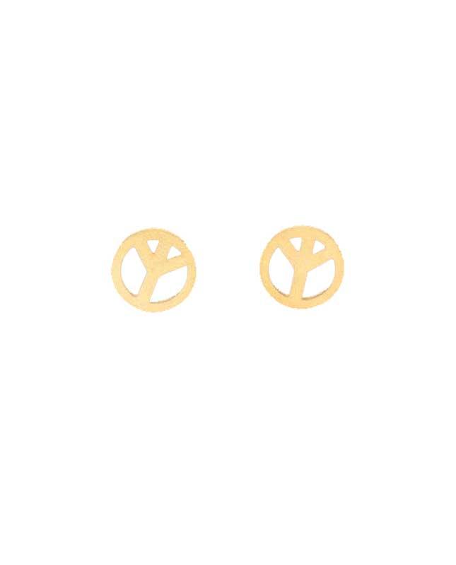 boucles d'oreilles acier inoxydable peace and love