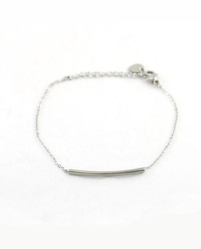 bracelet acier inoxydable barrette