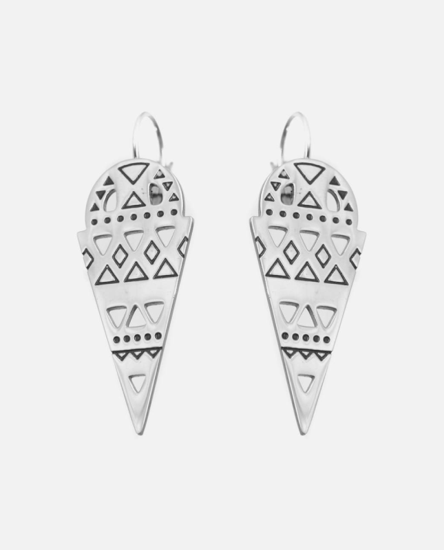 boucles d'oreilles acier inoxydable style inca