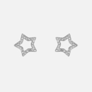 Boucles d'oreilles clou acier inoxydable étoile