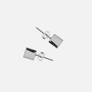 boucles d'oreilles clou acier inoxydable cube