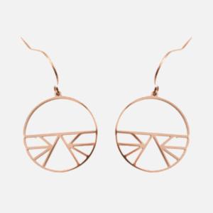 boucles d'oreilles acier inoxydable cuivré cercle filigrane