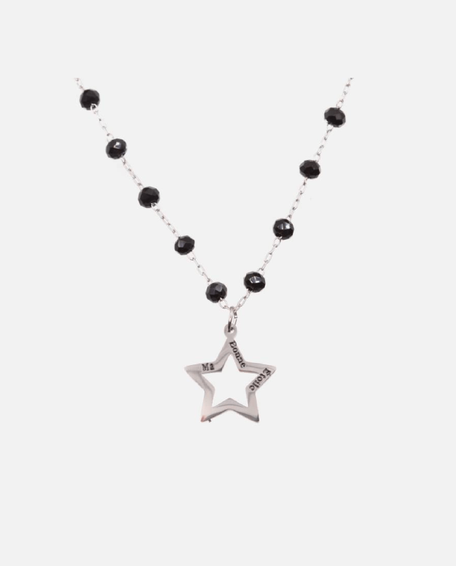 collier acier inoxydable étoile