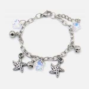bracelet enfant acier inox étoile de mer