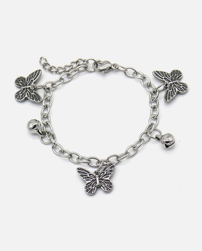 bracelet enfant acier inox papillon