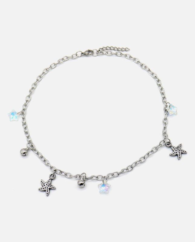 collier enfant acier inox étoile de mer